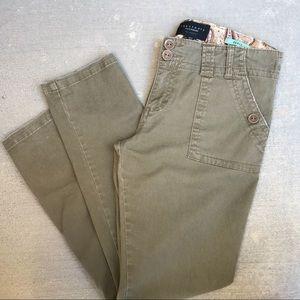 SANCTUARY Peace Fit Pants in Olive Size 31.